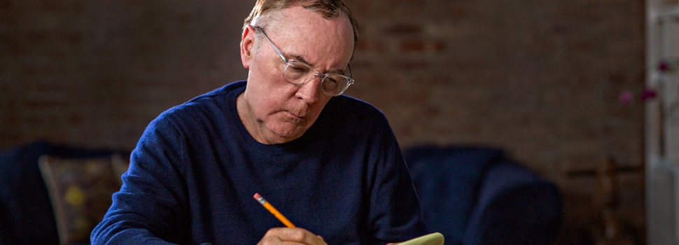 Best-selling author James Patterson prepares to teach his writing MasterClass